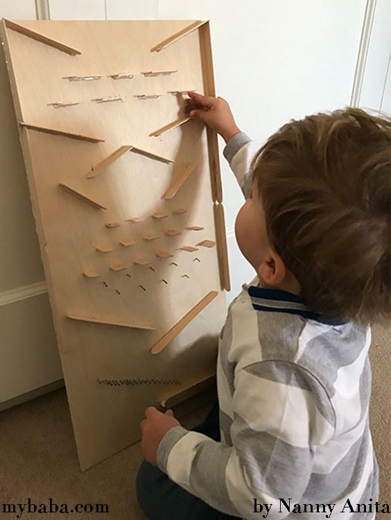 How to make a wooden marble drop for children.