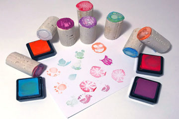 homemade stamp set