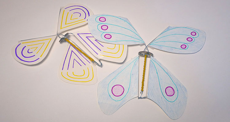 Wind-up butterfly