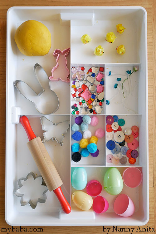 Easter Themed Play Dough: Invitation to Play