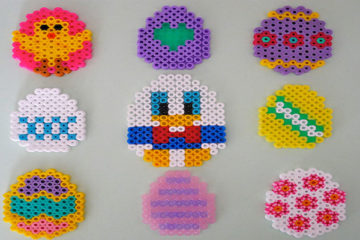 Hama bead Easter eggs