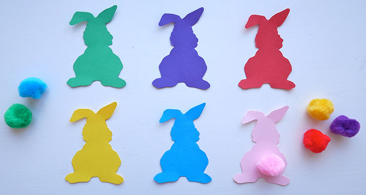 bunny colour match busy bag
