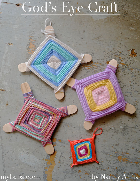 How to make a God's eye. Great craft for camp.