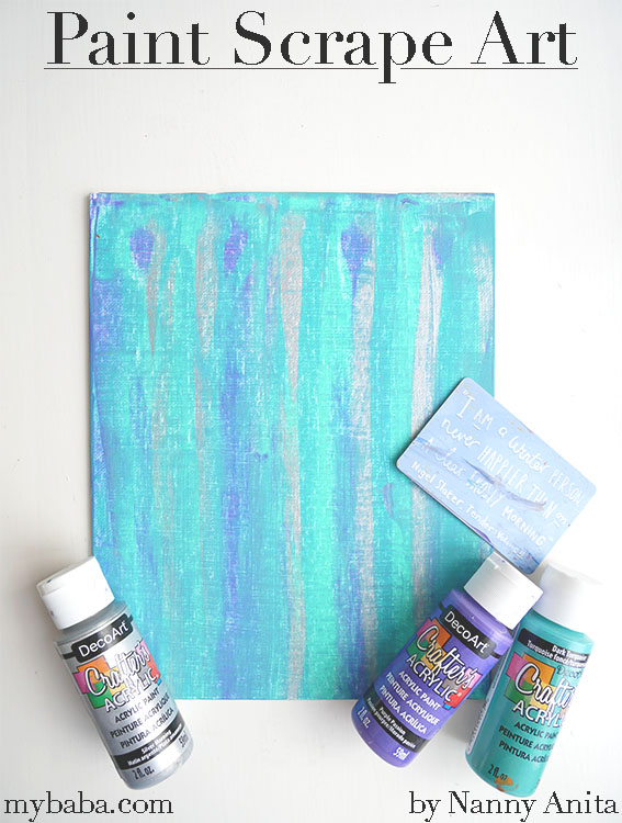 Paint scrape art for children and toddlers.