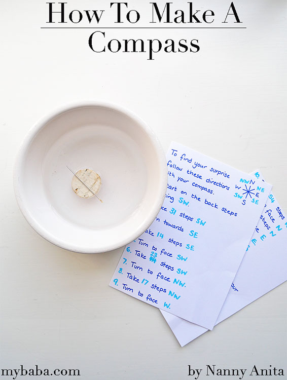 learn how to make a compass in this simpe science experiment for kids.