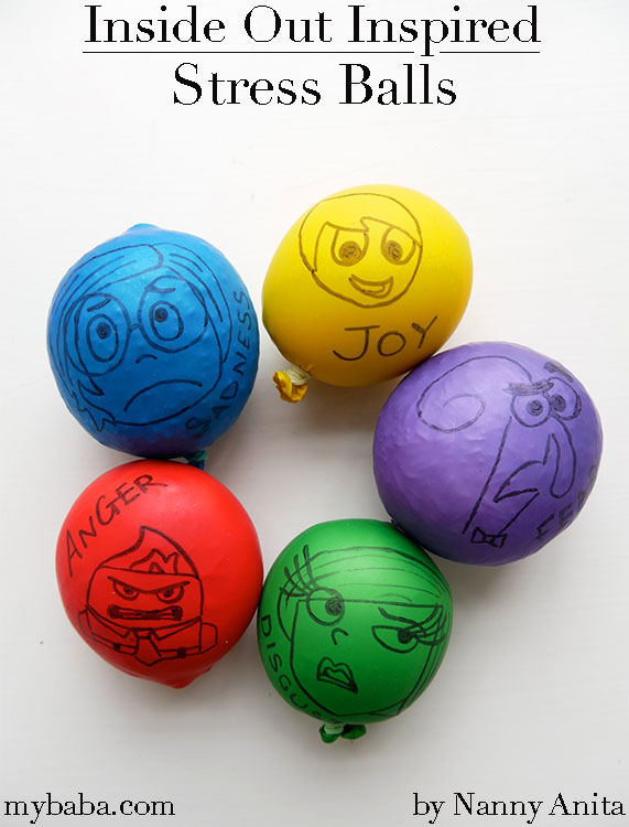 Inside Out Stress Balls for helping little ones cope with big emotions.  Also great for strengthening hand muscles.