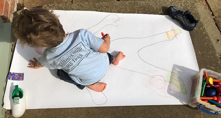 body tracing art