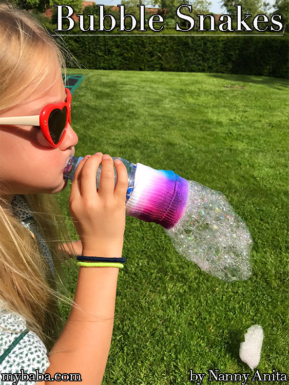 Have some foamy fun in the garden this summer with some bubble snakes.
