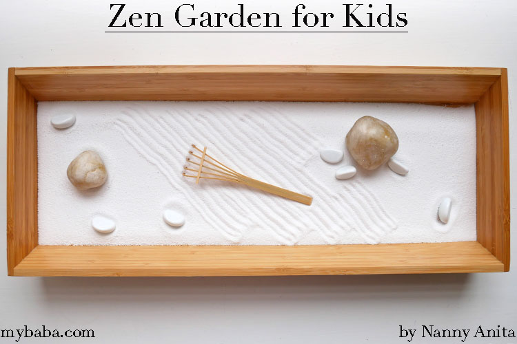 Help little ones calm their minds before bed with this zen garden for kids.