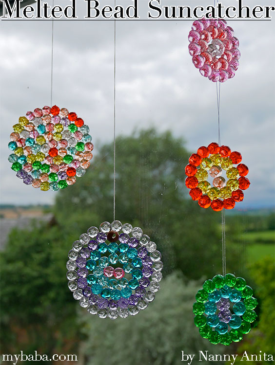 Beautiful melted bead sun catchers that really catch the sun