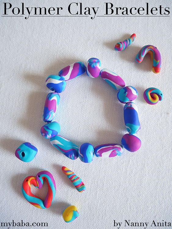 Polymer Clay Bracelets for kids