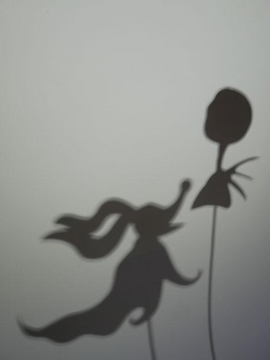 Halloween shadow puppet