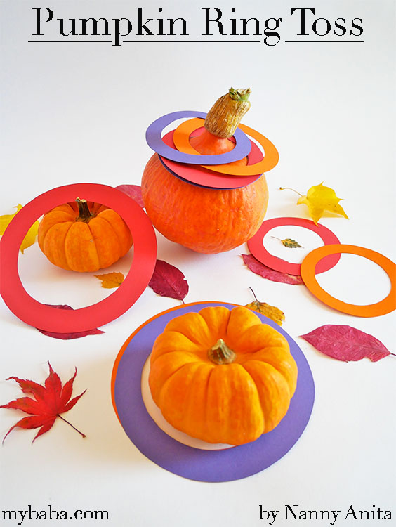 This pumpkin ring toss is a fun game for all the family, that when finished with, you can still eat the pumpkin and not feel like you've wasted food.