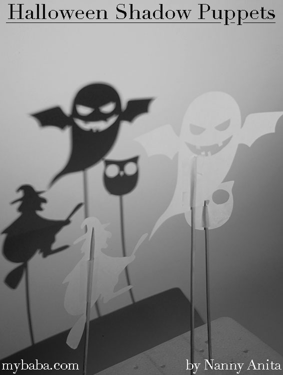 Have a spook-tacular Halloween with this Halloween shadow puppet activity.