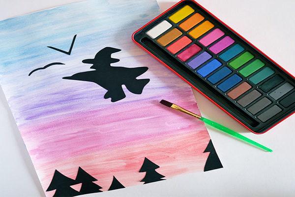 halloween silhouette scenes