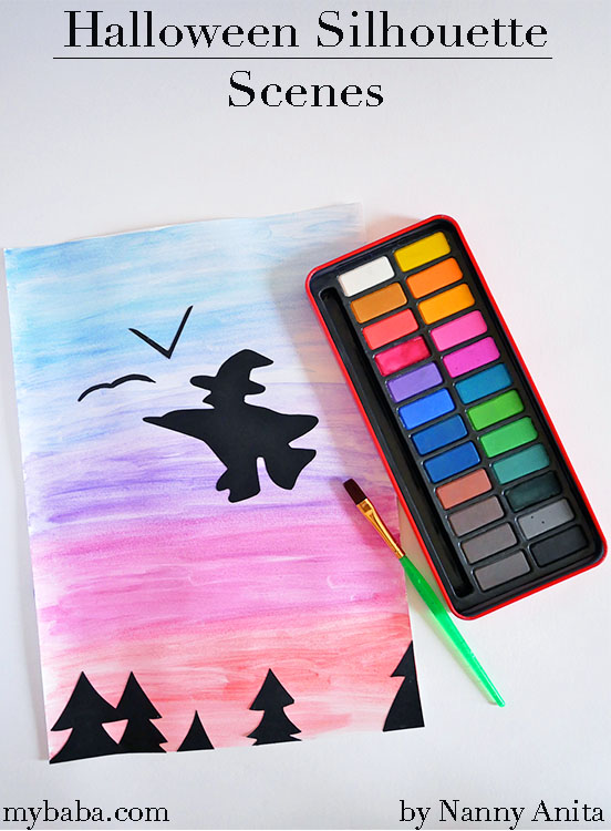 Halloween silhouette scenes - a nice quiet and creative craft for older children.