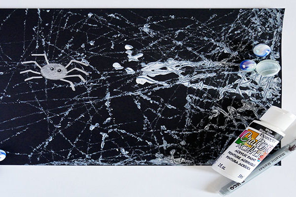 Marble painting spider webs