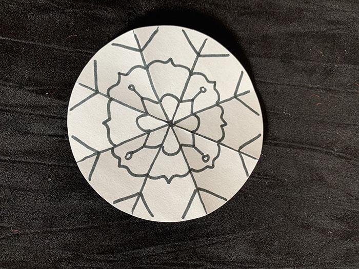 snowflake drawings