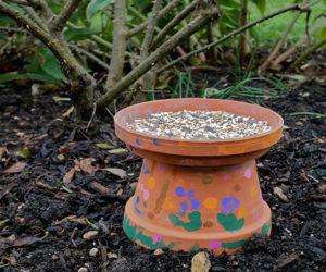 plant pot bird feeder