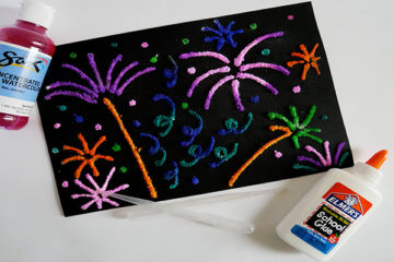 firework salt paintings