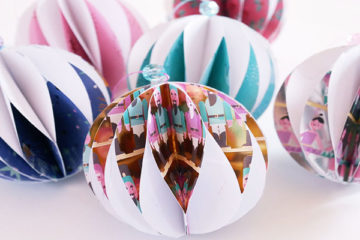 3D paper baubles christmas decorations