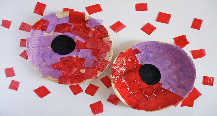 paper plate poppies