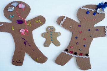 cardboard gingerbread men