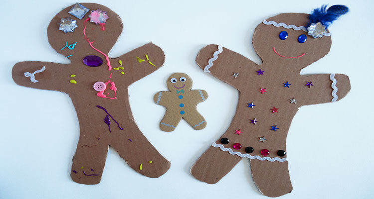 cardboard gingerbread men