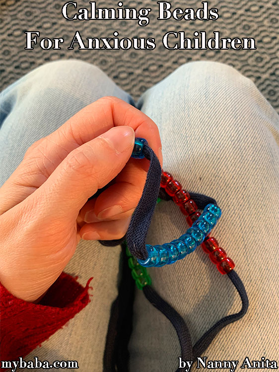 Calming beaded strings to help children cope with anxiety.