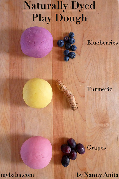 Use fruit, herbs, spices, and veg to make your own naturally dyed play dough.
