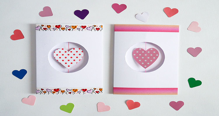 spinning heart valentine's day card