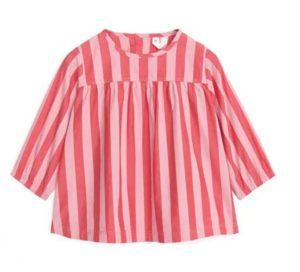 Striped Poplin Dress