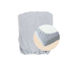 Soft seagrass fitted sheet