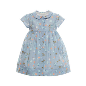 Elouise - Blue Exclusive Print Dress with Bloomer
