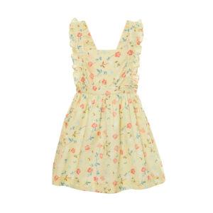 Edwina - Yellow Exclusive Print Apron Dress