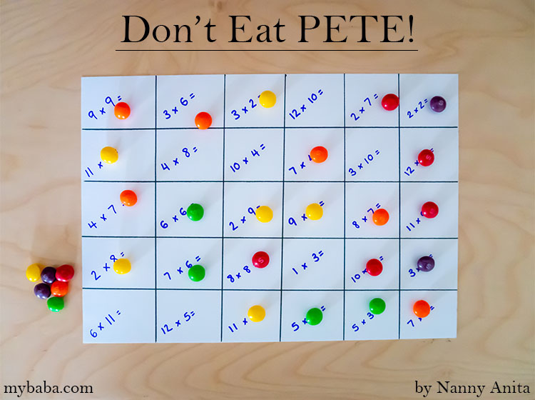 Don't Eat Pete is a fun party game and a fun aid to learning.