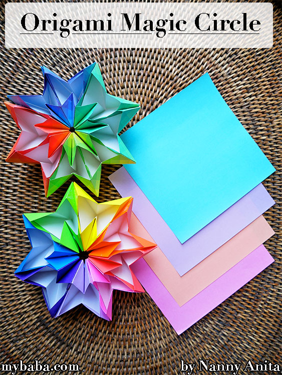 Learn how to make an origami magic circle.
