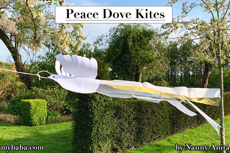 VE Day peace dove kites - craft and activity for kids