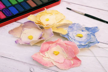 watercolour paper flowers