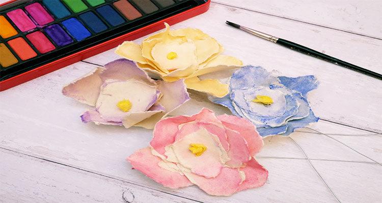 watercolour paper flowers