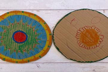 cardboard frisbees