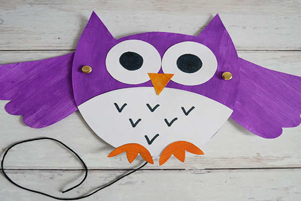 moveable owl puppet