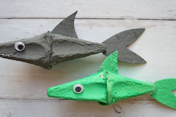 egg carton sharks