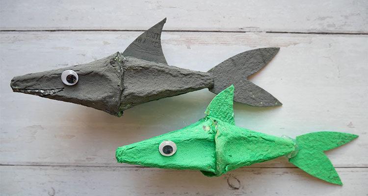 egg carton sharks