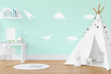 Create A Dinosaur Nursery With These Roar-Tastic Accessories & Interior Ideas