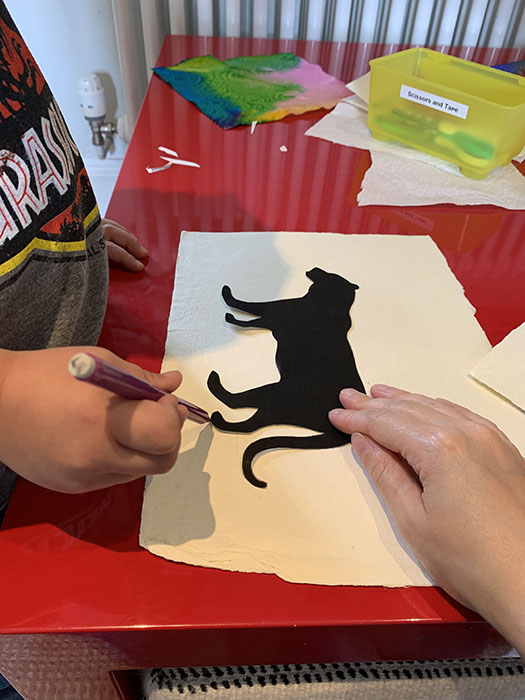 watercolour silhouette pictures