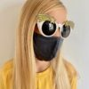 Sustainable, Reusable & Personalisable Cotton Mask - Dark Grey - Small