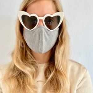 Sustainable, Reusable Cotton Mask - Dark Grey - Medium