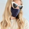 Sustainable, Reusable Cotton Mask - Navy - Medium