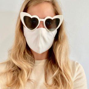Sustainable, Reusable Cotton Mask - White - Medium